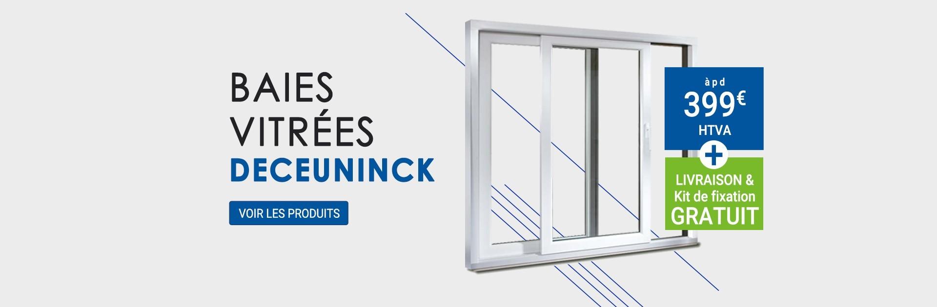 Baies vitrées Deceuninck àpd 399€ htva