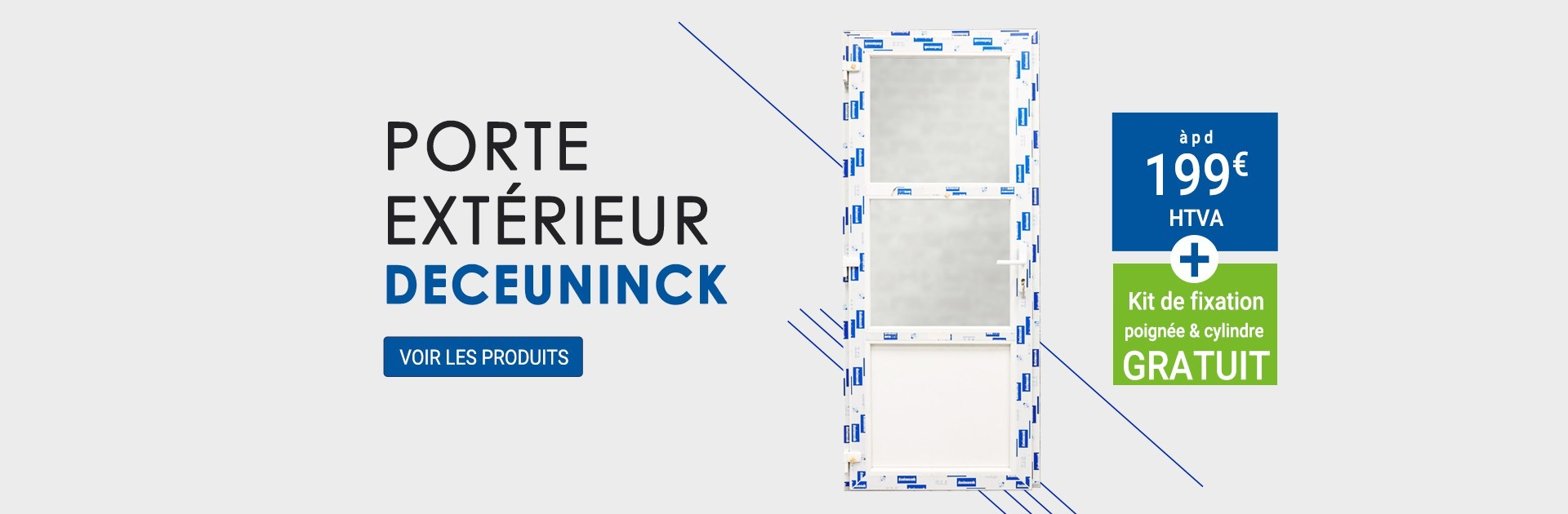 Porte extérieur Deceuninck àpd 199€ htva